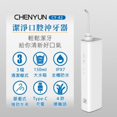 【CY 呈云】潔淨口腔電動沖牙器/沖牙機 大全配附4款噴頭(USB充電款 CY-42)