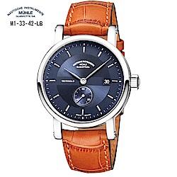 格拉蘇蒂-莫勒 Classical 經典系列-日耳曼時計 M1-33-42-LB 機械男錶