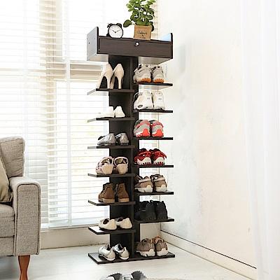 澄境 直立式8層開放附花台收納鞋架/鞋櫃40x24x137-DIY
