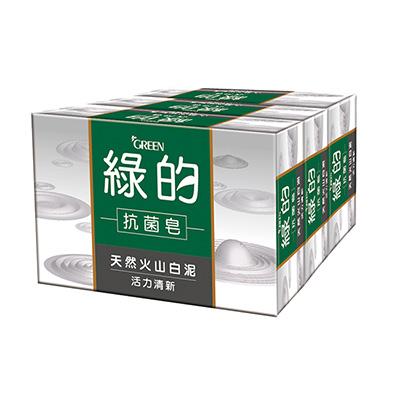 綠的GREEN 抗菌皂-活力清新100g*3入組
