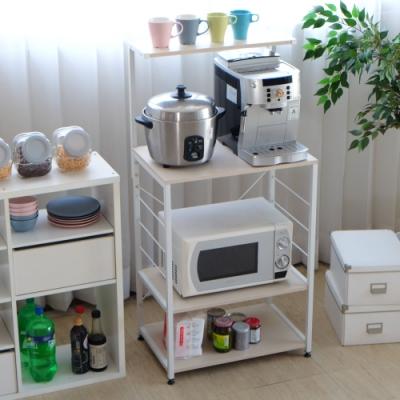 EASY HOME-防潑水多用途電器收納架DIY(原木白)-60*40*123CM