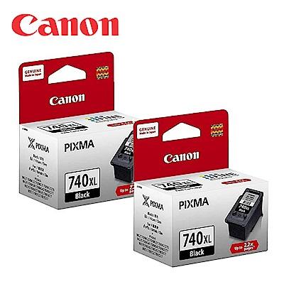 CANON PG-740XL 原廠黑色高容量墨水匣 (2顆入)