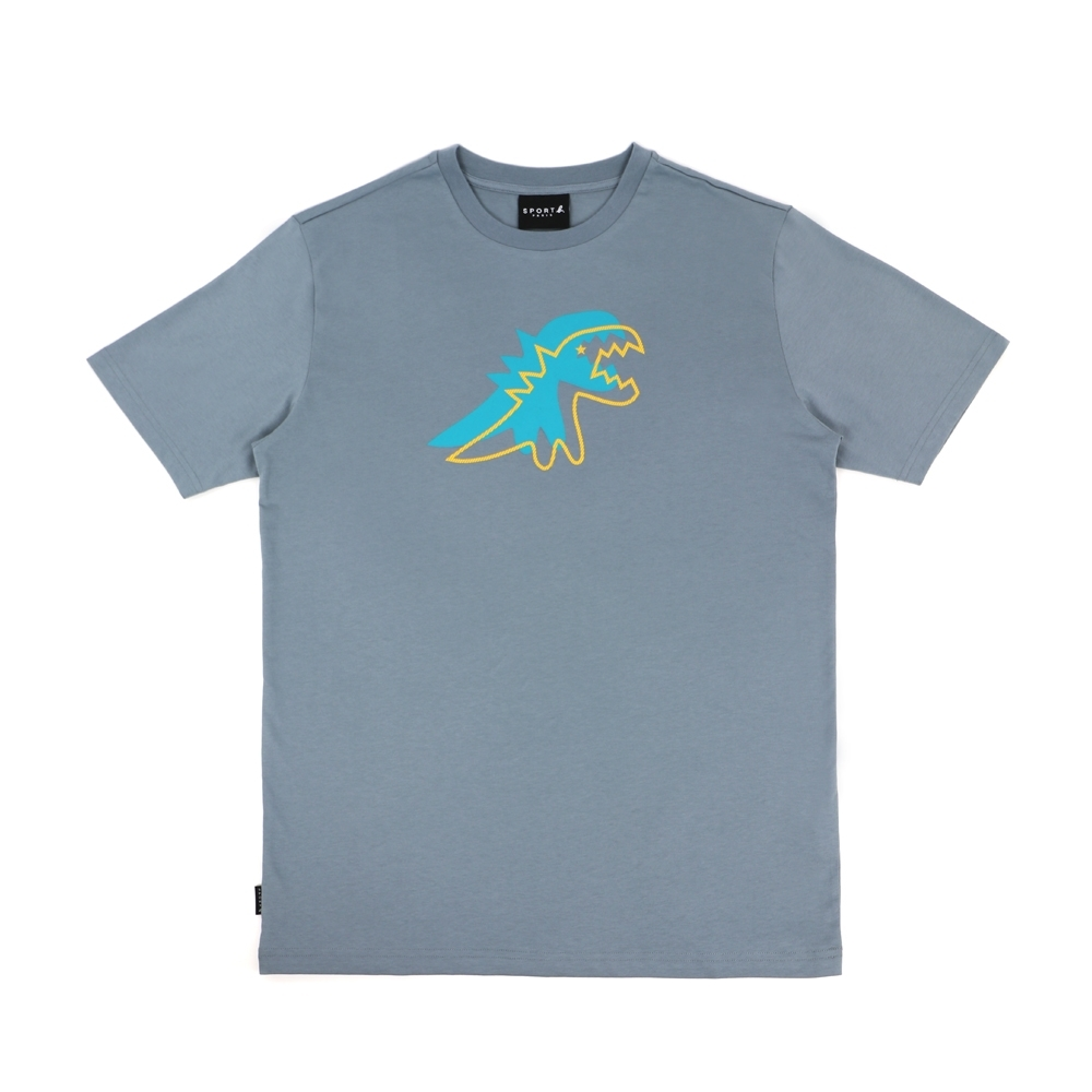 agnes b. - Sport b. 恐龍印花圓領短袖上衣(男)(藍)