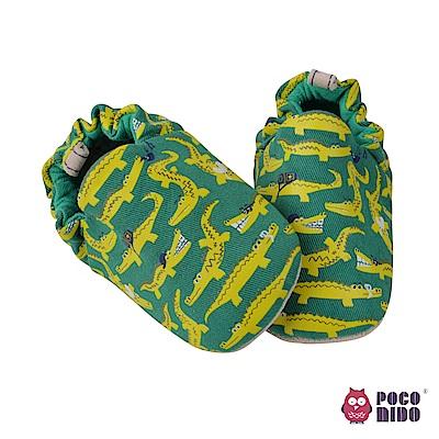 英國 POCONIDO 純手工柔軟嬰兒鞋 (鱷魚去旅行)