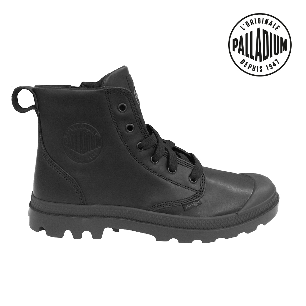 Palladium Pampa Hi Lea M Zip-男-黑