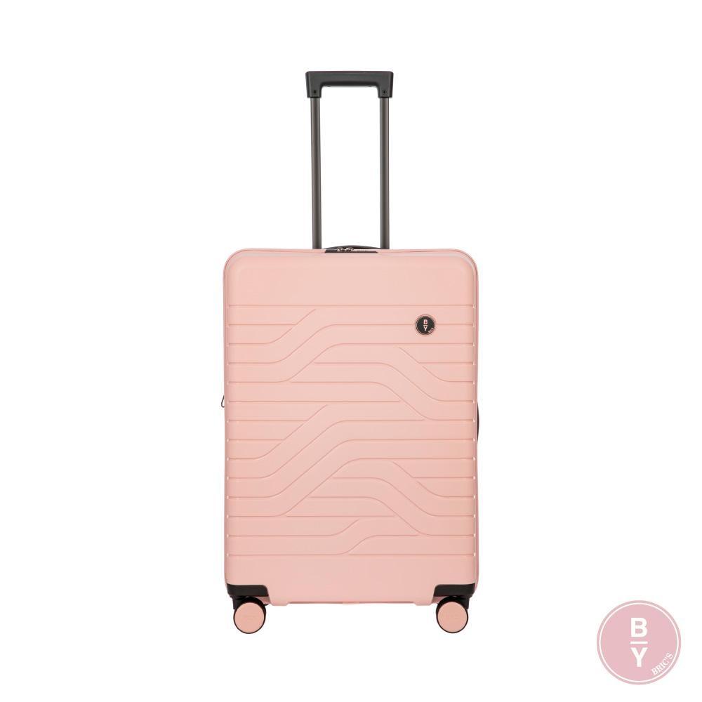 BRICS 義大利 BY Ulisse 28吋 玫瑰粉 可擴充拉鍊拉桿箱 USB充電孔