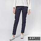 JEEP 女裝 修身造型貼布口袋長褲-深藍色