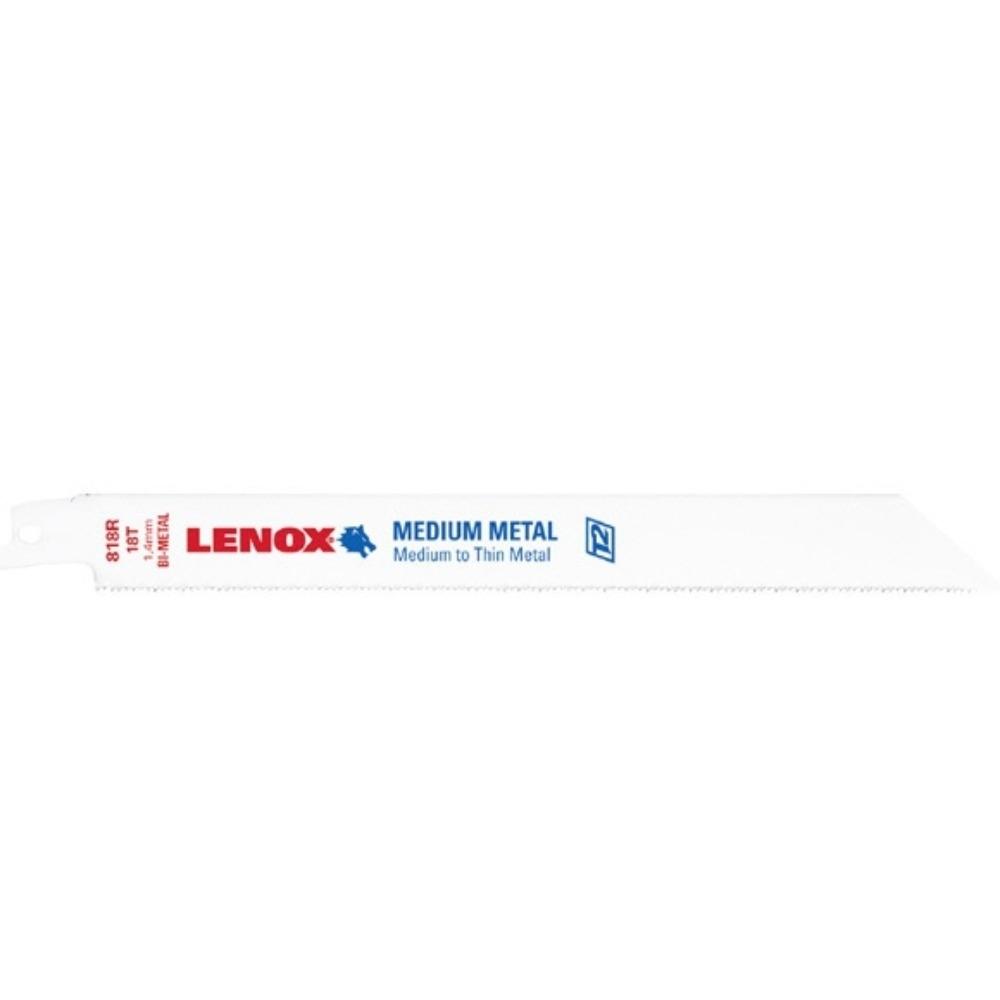 """(5片裝)LENOX狼牌 8""""*18T雙金屬軍刀鋸片 型號:818R 適用於薄型金屬/中厚型金屬"""