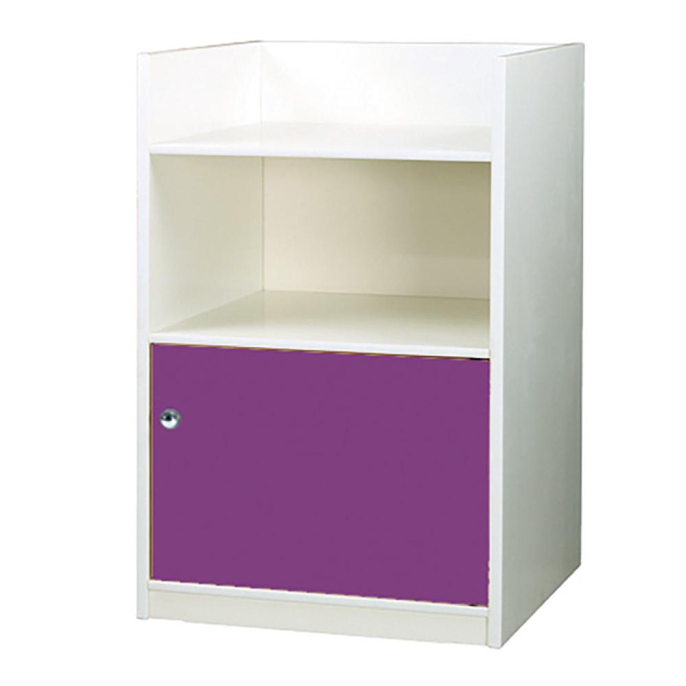 文創集 艾倫環保1.4尺塑鋼單門二格書櫃/收納櫃(二色)-43x40x96cm-免組