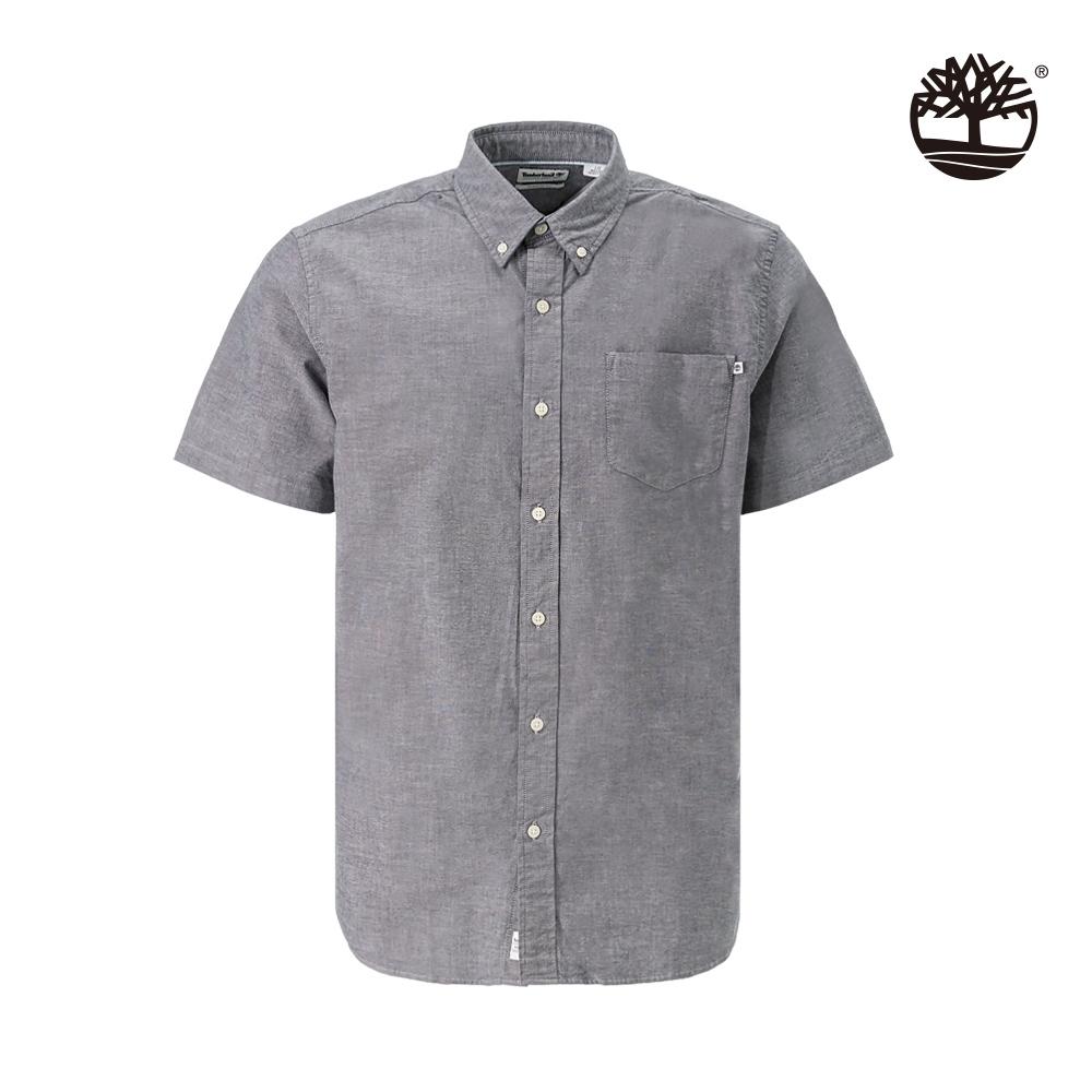 Timberland 男款中藍灰彈性牛津紡襯衫|A1WN9