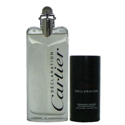 Cartier Declaration卡地亞宣言男性淡香水100ml +體香膏 75ml 無外盒包裝