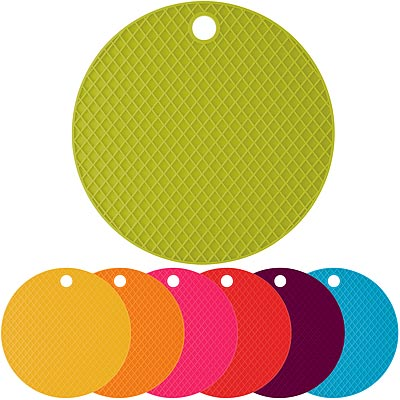 《KitchenCraft》網紋矽膠隔熱墊(圓)