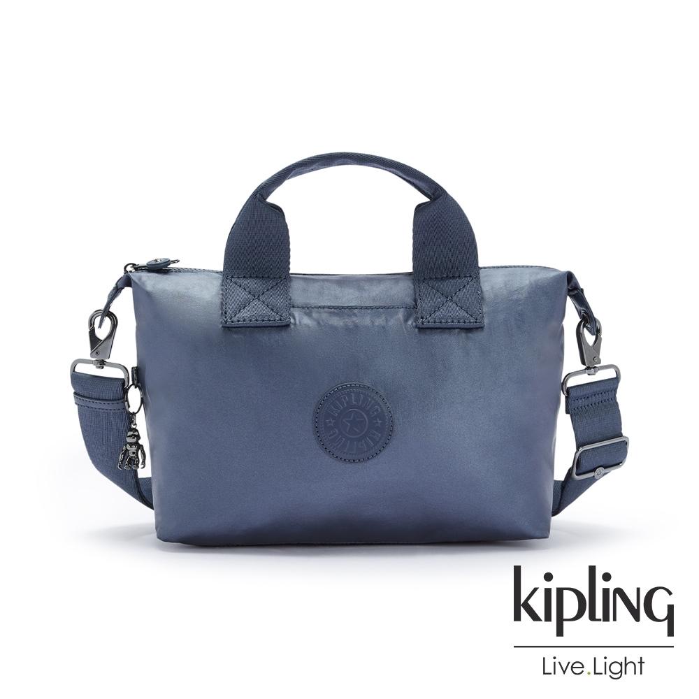Kipling 個性霧灰藍簡約手提肩背托特包-KALA MINI