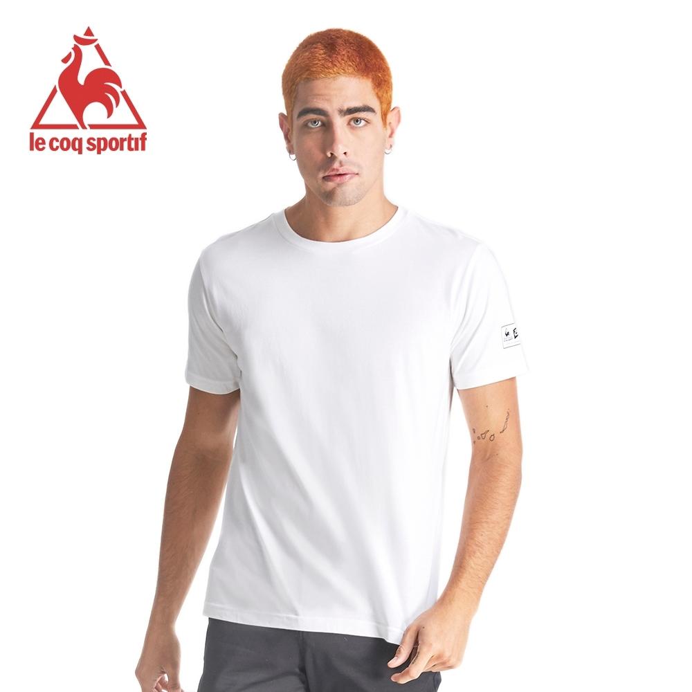le coq sportif 法國公雞牌環法賽黃衫百年背部印花聯名短袖T恤 男-白