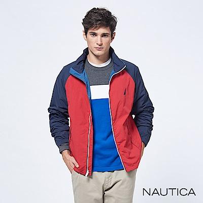 Nautica防潑水機能休閒雙面穿夾克-紅色