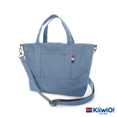 Kiiwi O! 輕便隨行系列2way帆布托特包 ANNIE 莫蘭迪藍