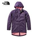The North Face北面女款紫色防水透氣戶外衝鋒衣|497OWUC