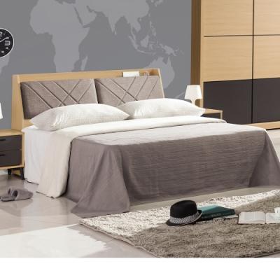 Bernice-安珀5尺雙人床組(床頭箱+床底)(不含床墊)