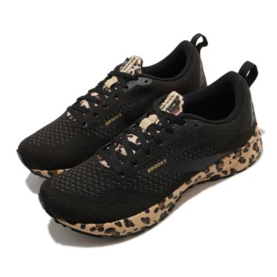 Brooks 慢跑鞋 Revel 4運動 健身 女鞋 路跑 緩震 DNA科技 透氣 球鞋 黑 棕 1203371B012