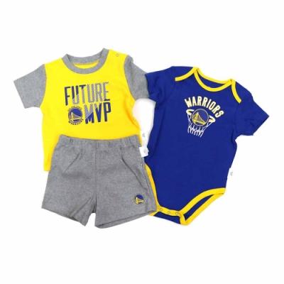 NBA 新生兒包屁衣套裝組合 勇士隊 12-24M