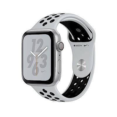 Apple Nike+S4 LTE 40mm銀色鋁金屬PurePlatinum黑色運動錶帶