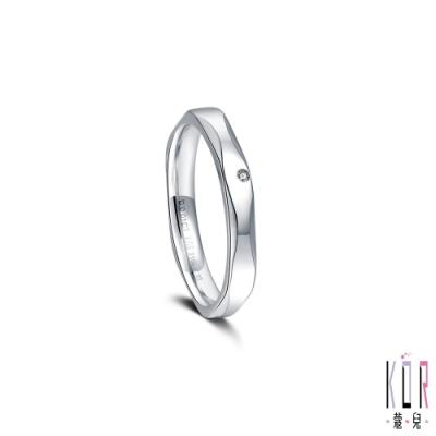 K OR蔻兒 愛情的樣子鑽石/白鋼女戒指