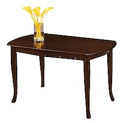綠活居 凡尼莎時尚4.2尺木紋餐桌(二色可選)-126x81x75cm-免組