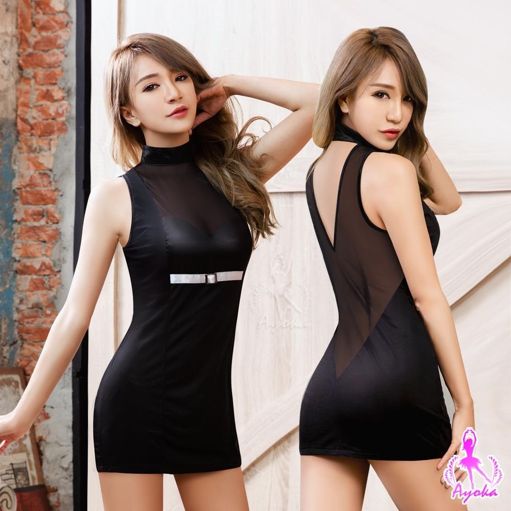 Ayoka 角色扮演 魅惑黑色連身裙辣妹角色扮演服-黑F