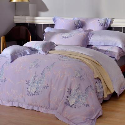 義大利La Belle 魔鏡花園 加大天絲防蹣抗菌吸濕排汗兩用被床包組