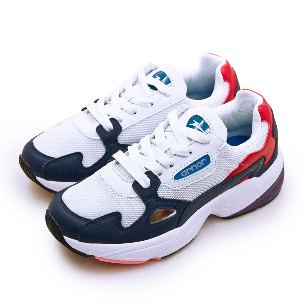 ARNOR 輕量時尚復古慢跑鞋 精彩潮流老爹鞋系列 白藍紅 92006