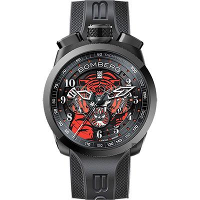 BOMBERG 炸彈錶 BOLT-68 老虎計時碼錶-黑/45mm