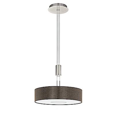 EGLO歐風燈飾 現代深亞麻布紋圓型吊燈(高度可調式設計)