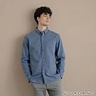 GIORDANO 男裝法蘭絨溫暖磨毛長袖襯衫-05 藍