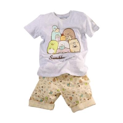魔法Baby 男童角落小夥伴純棉短袖居家套裝 k51418