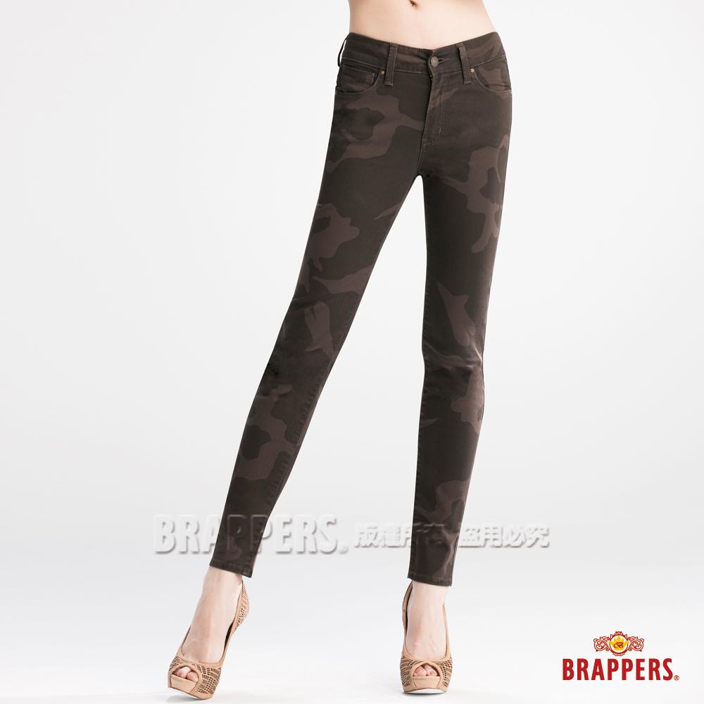 BRAPPERS 女款 新美腳Royal系列-中腰彈性九分褲-迷彩