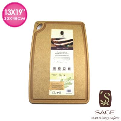 【SAGE美國原裝】無菌木砧板凹槽型(35x50cm)