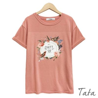 花鳥印花上衣 共二色 TATA