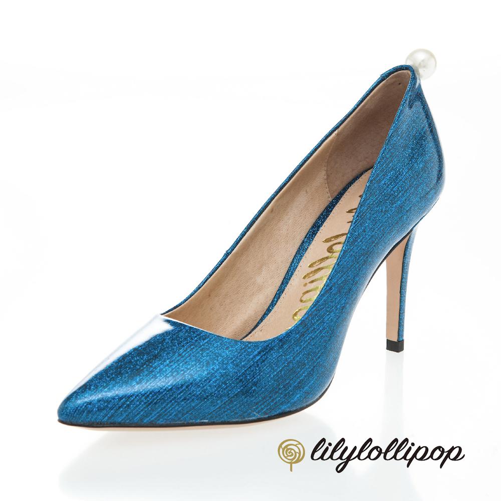 Lilylollipop-Luxury Space星空珍珠跟鞋--星空藍