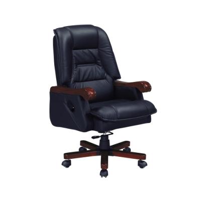 柏蒂家居-羅傑半牛皮主管辦公椅-67x53x109~114cm