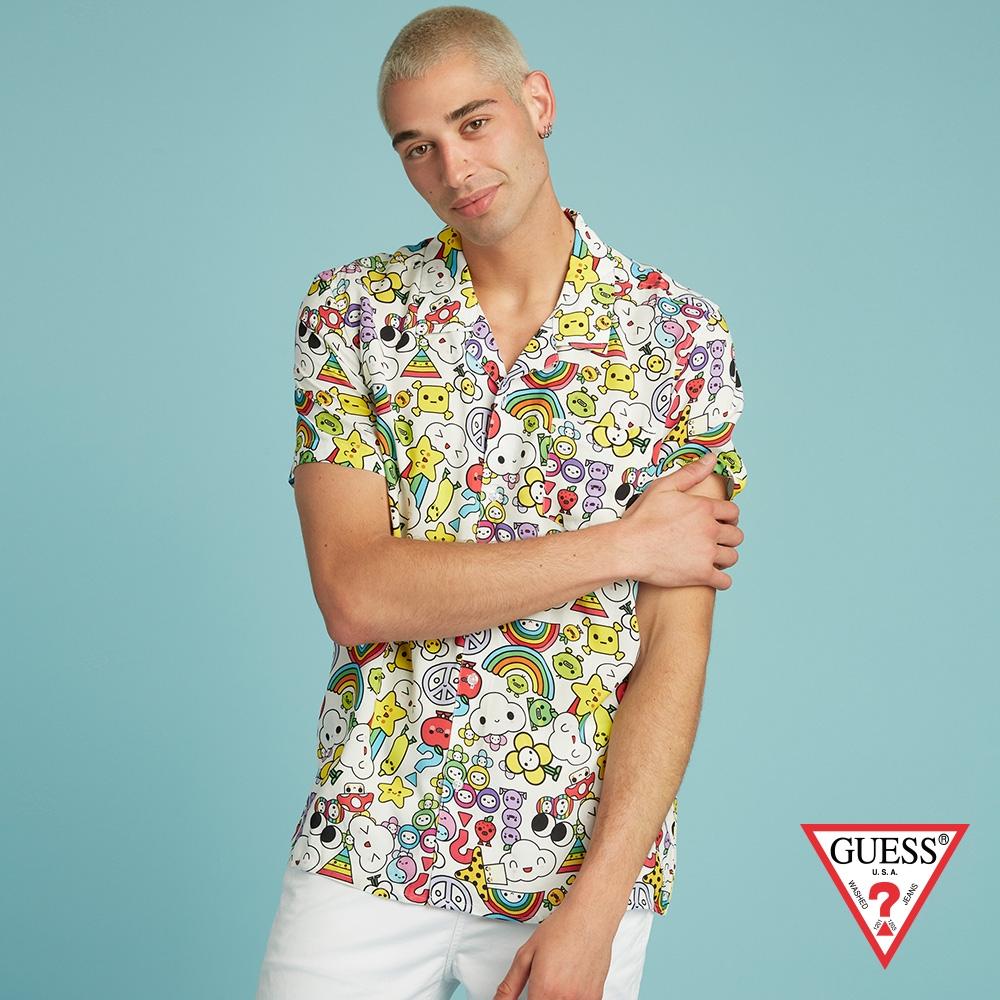 GUESS-男裝-FriendsWithYou系列 滿版聯名印花襯衫-多色 原價1990