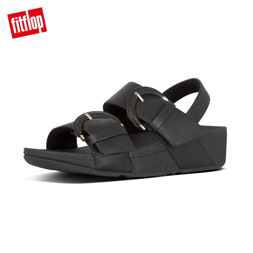 FitFlop AMALITA BUCKLE BACK STRAP SANDALS 黑