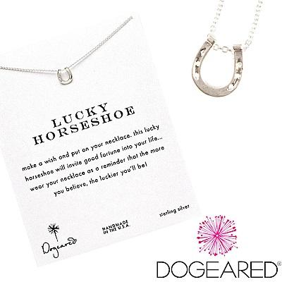 Dogeared 雙邊馬蹄 lucky horseshoe 銀色許願項鍊 附原廠盒