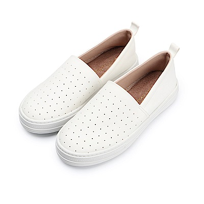 BuyGlasses 點點點普普風懶人鞋-白 @ Y!購物