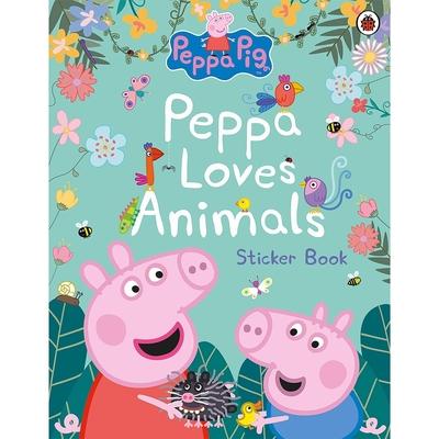 Peppa Pig:Peppa Loves Animals Sticker Book 佩佩豬的動物貼紙書