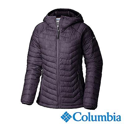 Columbia哥倫比亞 女款- Omni-HEAT鋁點保暖連帽外套-暗紫