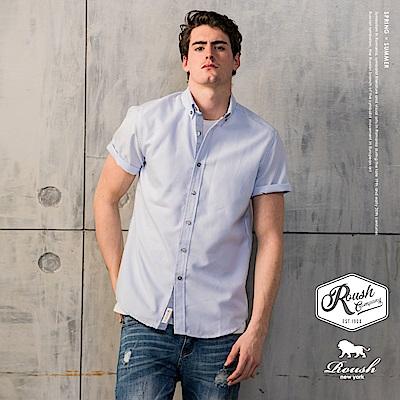 Roush 高磅數牛津布條紋短袖襯衫(3色)
