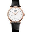 MIDO美度 BARONCELLI 永恆系列 III 大日期機械錶-銀x黑色皮帶/40mm