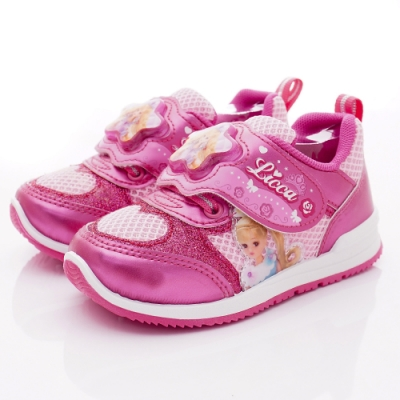 LICCA童鞋 莉卡電燈運動鞋款 NI0202香檳紅(中小童段)