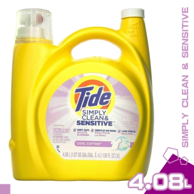 美國 TIDE SIMPLY CLEAN 敏感肌膚 洗衣精 4.08L