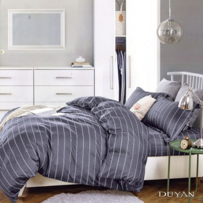 DUYAN竹漾 MIT 天絲絨-雙人加大床包枕套三件組-約書亞之諾